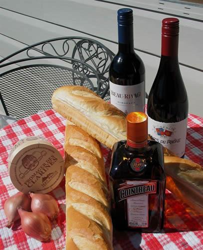 Du pain, du vin, du boursin et tout va bien