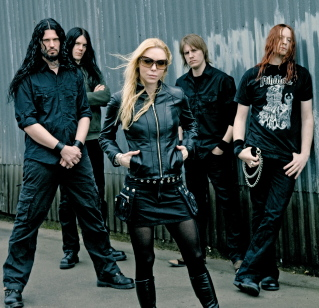 Archenemy's Angela Gossow front and center : forget Ikea, this IS Sweden's finest export