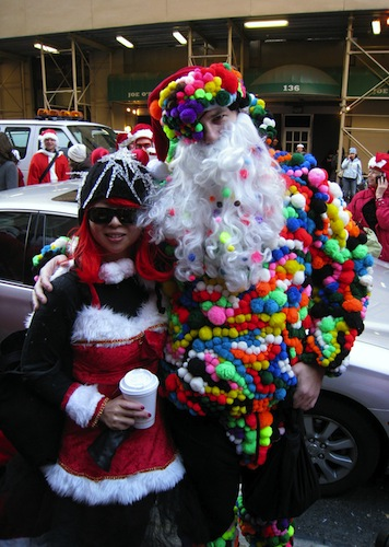 Santa and Friend in NYC last year. Pic courtesy of Santa
