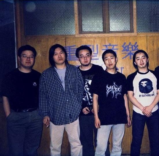 the Painkiller crew circa 2001